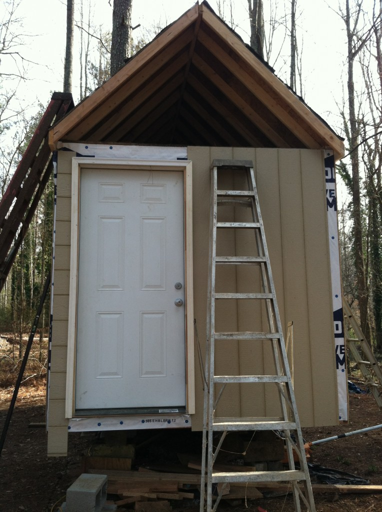 tiny house front with door