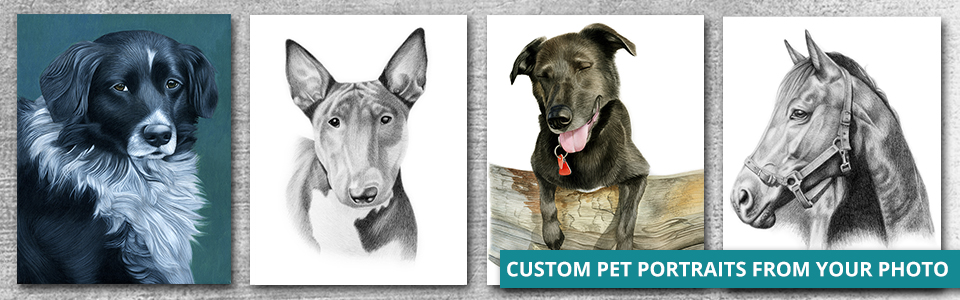 Custom pet portraits from your photo