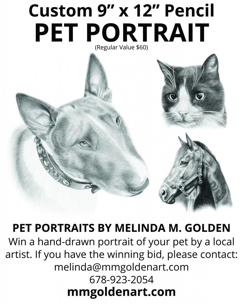 """9"""" x 12"""" pencil pet portrait for silent auction"""